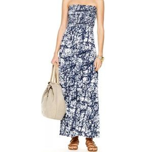 Michael by Michael Kors Blue/White Maxi Dress